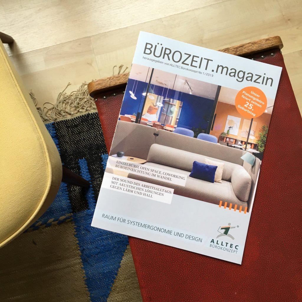 Titel der Esten Ausgabe des BÜROZEIT.magazins von ALLTEC Bürokonzept