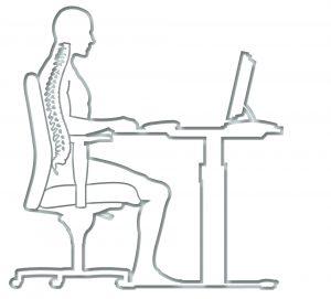 Der ergonomische Bürostuhl unterstützt gesunden und bewegtes Arbeiten.