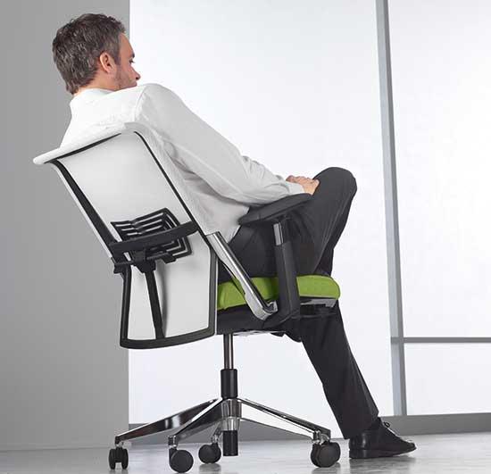 Ein ergonomischer Bürostuhl von Haworth.