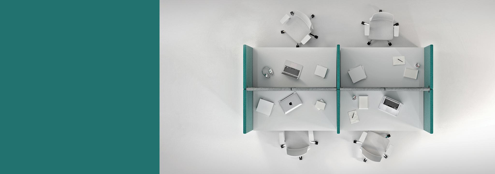 Akustikplanung. Wir erarbeiten ein individuelles Konzept gegen Lärm und Hall im Büro. © Hush